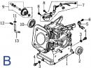 Каталог запчастей 168F (схема B)