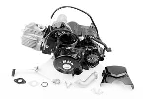 """Двигатель для квадроцикла (мопедный) в сборе 110куб - """"механика"""""""