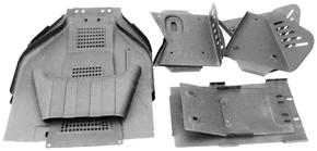 Защита нижняя квадроцикла, железная (10 деталей)