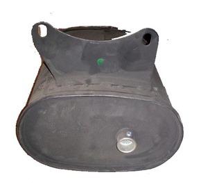 Глушитель  бензогенератора 4 - 6 кВт (овальный)