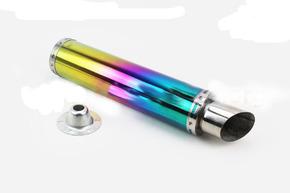 Глушитель прямоточный без колена 420*100мм  Плазма