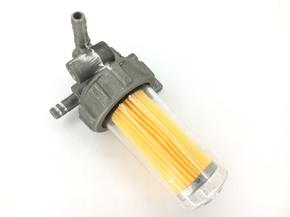 Кран топливный с горизонтальными выводами и пластиковым стаканом R175 R180 R185 R190 R195