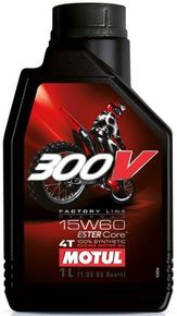 моторное масло MOTUL 300V 4T FACTORY LINE OFF ROAD 15W-60 1L