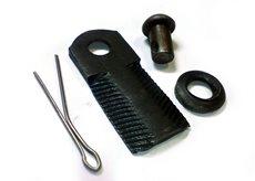 Нож для роторной косилки с насечками
